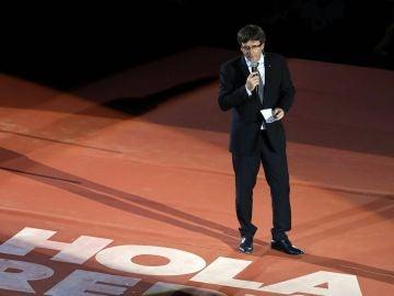 Puigdemont en el arranque de campaña del referéndum 1-O