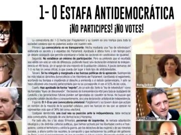 """Un millar de intelectuales y artistas """"de izquierdas"""" firman un manifiesto contra el 1-O: """"Es una trampa antidemocrática"""""""