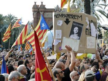 Manifestación en Cataluña por el referéndum