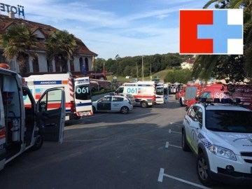 El 061, en el hotel afectado por el incendio