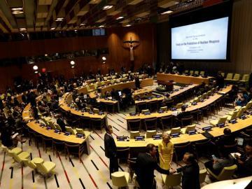 Asamblea General de las Naciones Unidas, en la sede de la ONU en Nueva York, Estados Unidos.