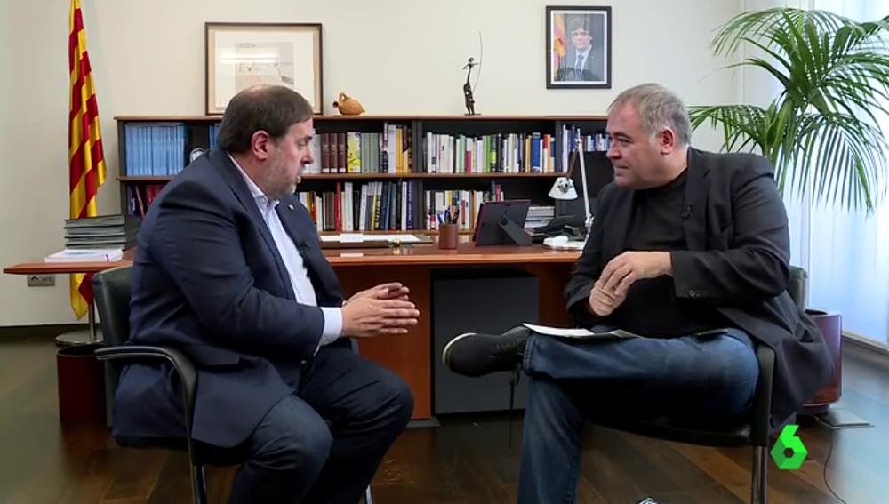 Oriol Junqueras con García Ferreras