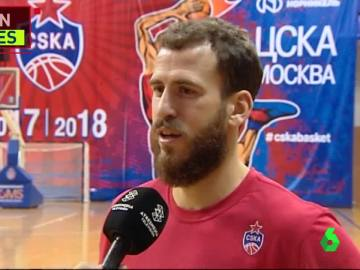 Sergio Rodríguez, jugador del CSKA