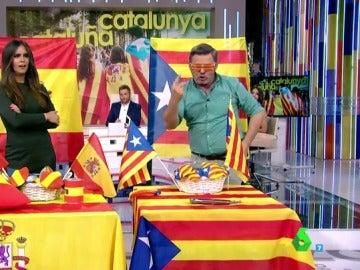 Miki Nadal y Cristina Pedroche en el mercadillo catalán