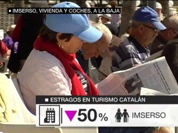Imserso, vivienda y coches a la baja en Cataluña