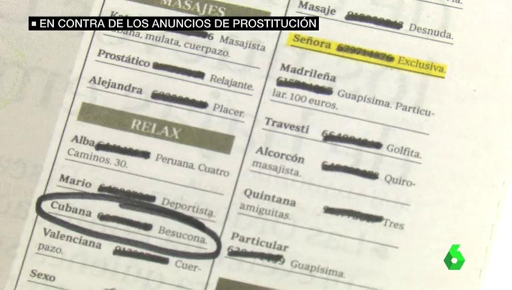 Anuncios de prostitución en prensa escrita