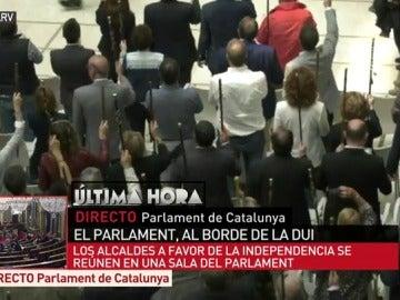Más de 200 alcaldes a favor de la independencia se reúnen en el Parlament