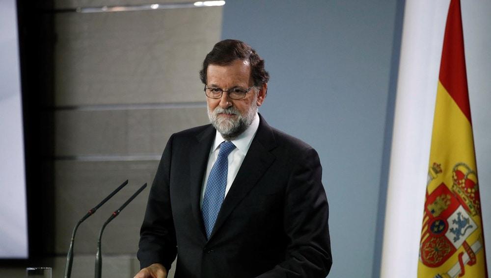 Mariano Rajoy tras el consejo de ministros extraordinario