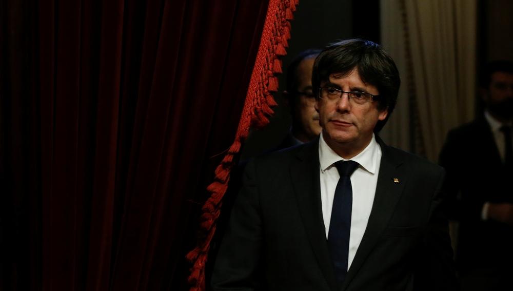 Carles Puigdemont, en el Palau de la Generalitat