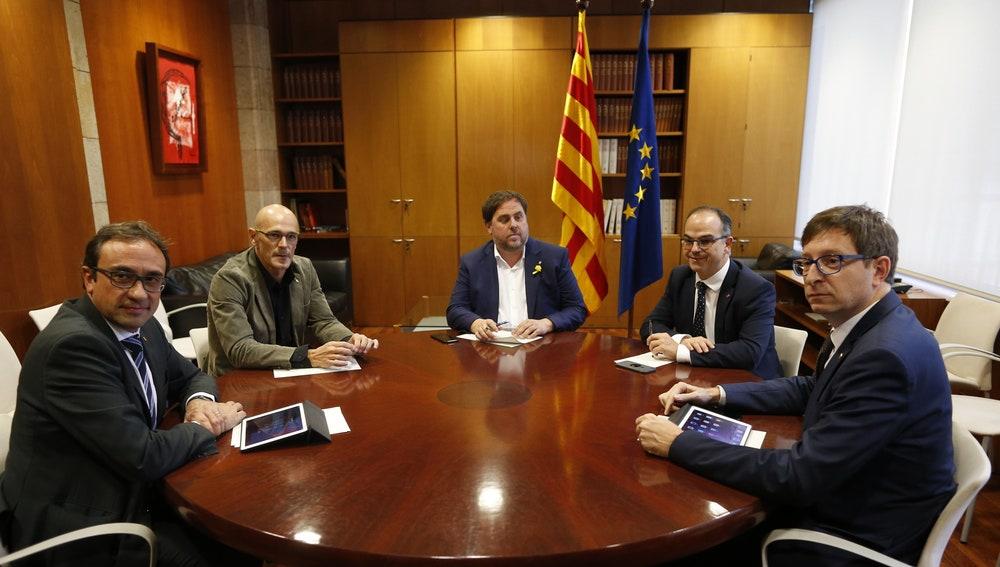 Reunión entre Junqueras y otros miembros cesados del Govern