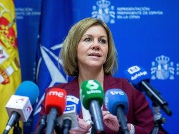 La ministra española de Defensa, María Dolores de Cospedal
