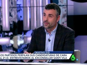 Santi Vila habla con Ana Pastor
