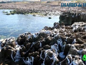 Toallitas invaden la costa de Ibiza