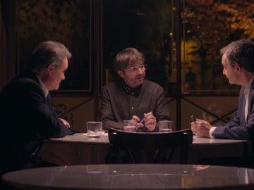 Jordi Évole en el cara a cara entre Zapatero y Mas