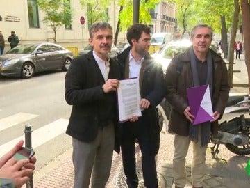 Diputados de Podemos en la Asamblea de Madrid