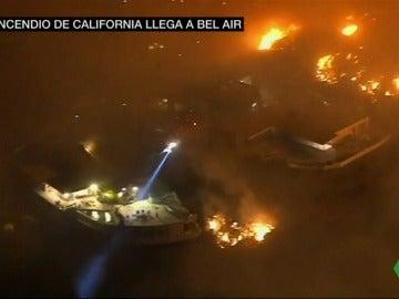 El incendio de California llega hasta las mansiones de Bel-Air