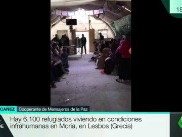 Denuncia el estado de los refugiados del campo de Moria, en Lesbos