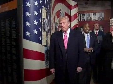 Polémica en la inauguración de un museo por la asistencia de Trump