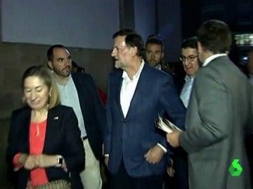 Mariano Rajoy momentos después de la agresión