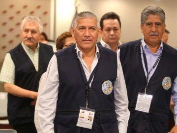 Nicanor Moscoso, presidente del Consejo de Expertos Electorales de Latinoamérica durante una conferencia de prensa
