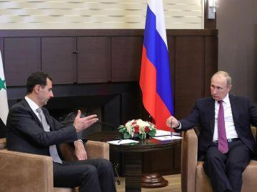 Vladímir Putin con Bashar al Assad