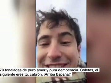 Civil amenazando de muerte a Puigdemont e Iglesias