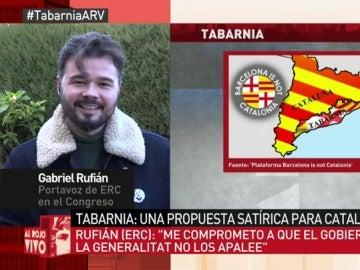 Gabriel Rufián, durante su entrevista en Al Rojo Vivo