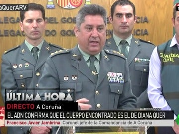 El coronel jefe de la Comandancia de A Coruña, Francisco Javier Jambrina