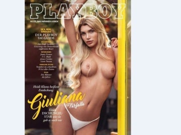 Giuliana Farfalla, primera transexual portada de Playboy Alemania