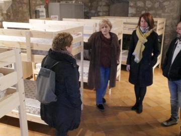 Alojamiento habilitado para personas sin techo en Girona