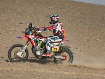 Kevin Benavides, en acción durante una etapa del Dakar