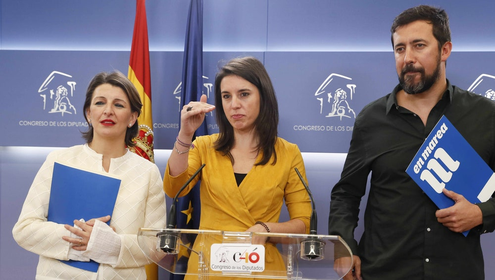 Irene Montero, portavoz de Podemos en el Congreso