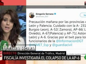 Imagen del tuit del director de la DGT, Gregorio Serrano