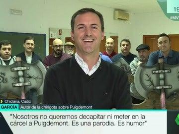 El autor de la chirigota que 'decapita' a Puigdemont, Álvaro García
