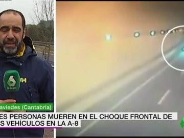 Mueren tres personas en Cantabria en una colisión con un turismo que circulaba en dirección contraria en la A-8
