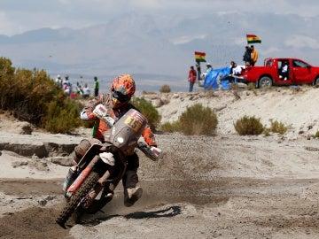 Laia Sanz durante la etapa del Dakar