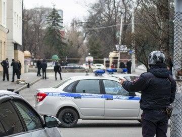 Imagen de un policía ruso