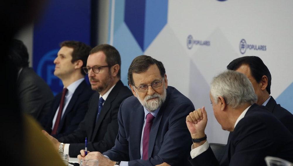 Mariano Rajoy en la Junta Directiva del PP