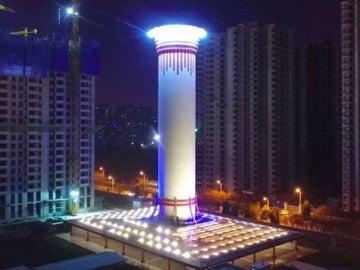 El purificador de aire más grande del mundo en China