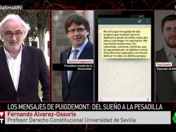 """Fernando Álvarez-Ossorio: """"Toni Comín fue incauto, la querella tiene poco recorrido porque expuso la comunicación"""""""