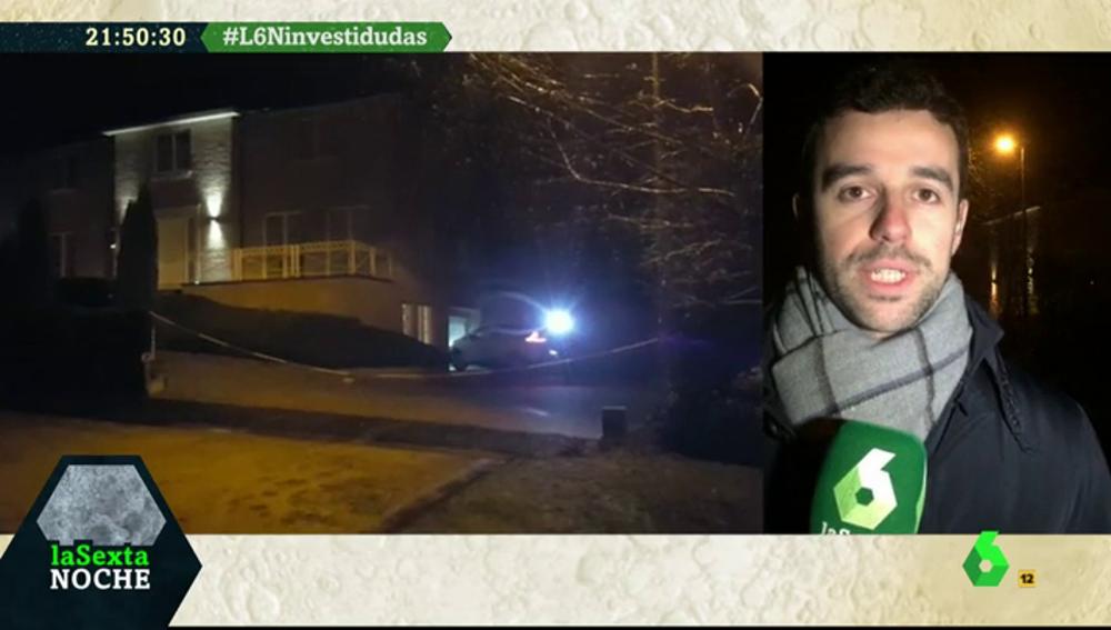 Un coche entra en la casa que habría alquilado Puigdemont