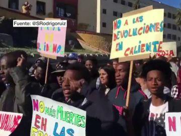 Marcha en Ceuta en recuerdo a las víctimas del Tarajal y contra las devoluciones en caliente