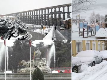 Las imágenes que deja el temporal por toda la península