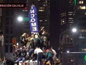 Así fue la salvaje celebración en Philadelphia tras la victoria de los Eagles en la Super Bowl