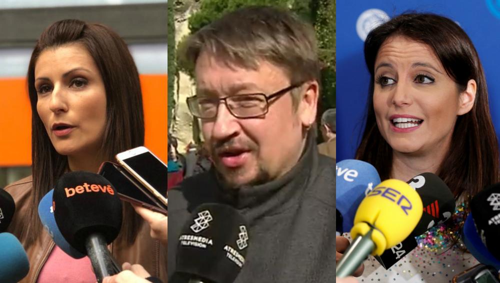 Lorena Roldan, Xavier Domènech y Andrea Levy