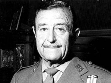 Teniente general Milans del Bosch, cabecilla del intento de golpe de Estado de 1981