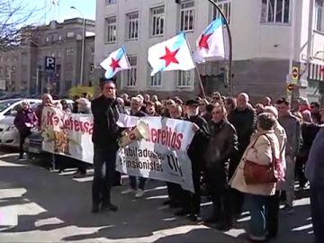 """Los pensionistas gallegos salen a la calle contra la """"precariedad"""""""
