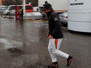 Fernando Alonso, en el circuito de Montmeló