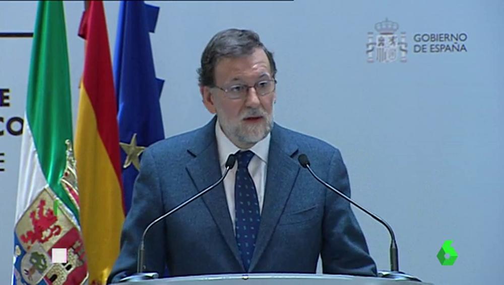 Rajoy en un acto en Extremadura