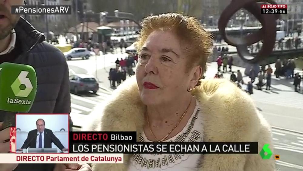 Juana Fuentes vive con una pensión de viudedad de apenas 600 euros